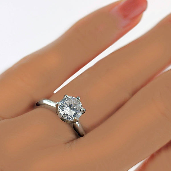 Round Diamond Solitaire 18K Gold Engagement Ring Setting - Thenetjeweler