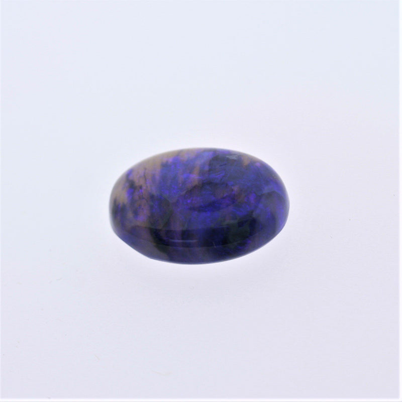 6.03ct Australian Bright Black Opal Oval Cabochon Semi Crystal - Thenetjeweler