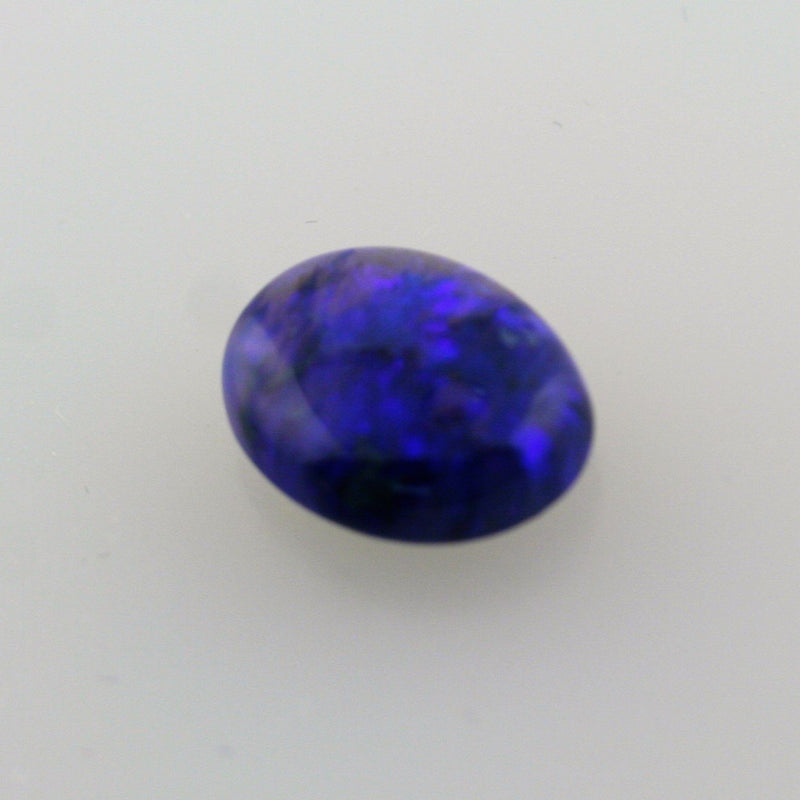 6.03ct Australian Bright Black Opal Oval Cabochon Semi Crystal - Thenetjeweler by Importex