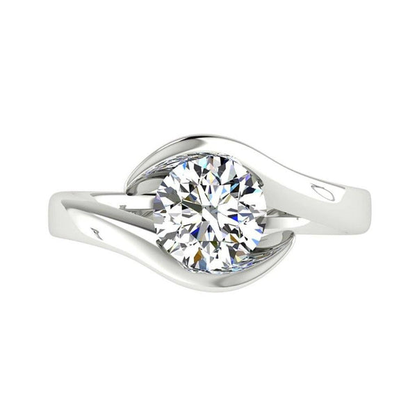 Solitaire Twist Diamond Engagement Rings | Thenetjeweler