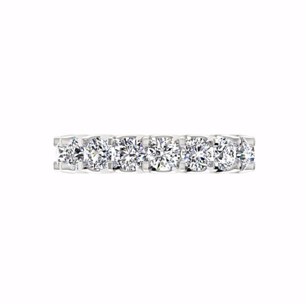 Round Diamond Eternity Band Ring, 3.40 ct.tw 18K Gold - Thenetjeweler