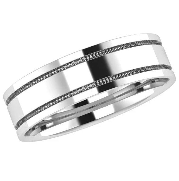 Milgrain Men's Wedding Band - Thenetjeweler by Importex