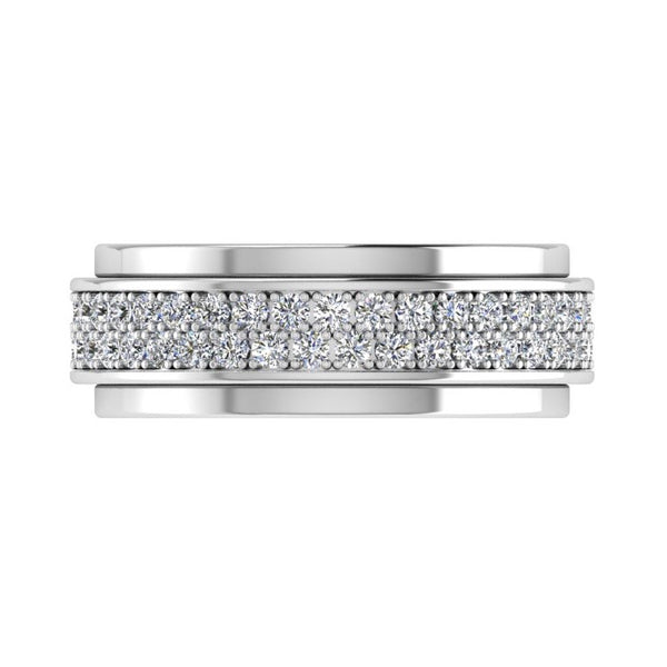 Double Row Diamond Eternity Ring 18K Gold