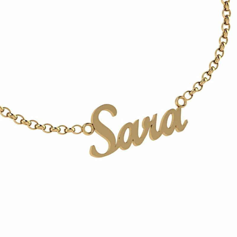 Personalized Name Necklace Sara 14K Gold - Thenetjeweler