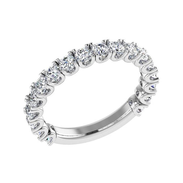 Diamond Semi Eternity Ring Band 18K Gold (1.06 ct. tw) - Thenetjeweler by Importex