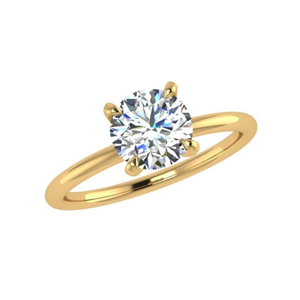 Solitaire Diamond Engagement Ring 18K Gold - Thenetjeweler