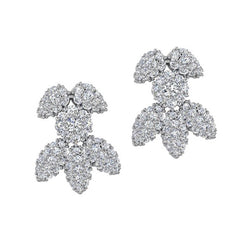 Snowflake Diamond Earrings 18K Gold - Thenetjeweler