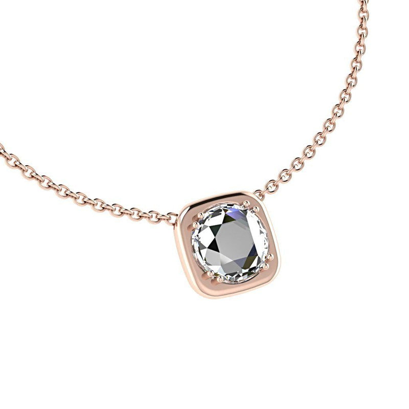 2ct Rose Cut Diamond Pendant 18K Gold - Thenetjeweler by Importex