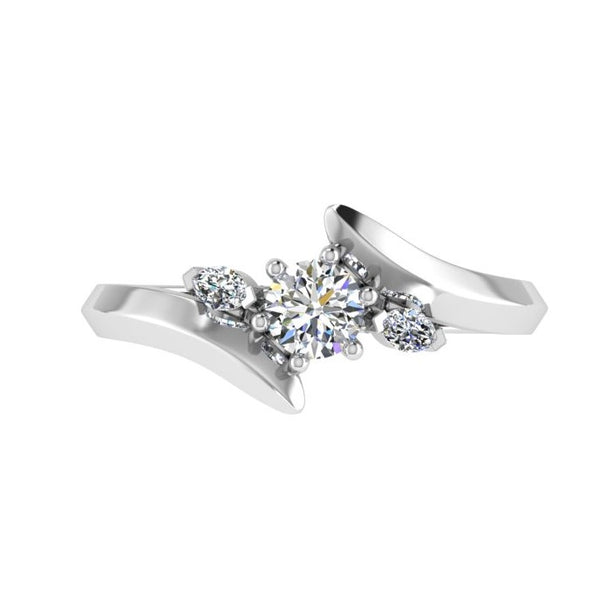 3 Stone Diamond Engagement Ring (0.10 ct. tw.) - Thenetjeweler