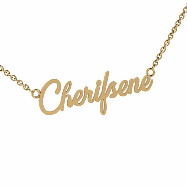 Personalized Name Necklace Cherifsene 14K Gold - Thenetjeweler