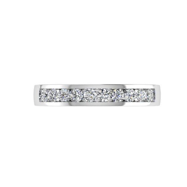 Channel Set Diamond Half Eternity Ring (0.30 ct. tw) - Thenetjeweler