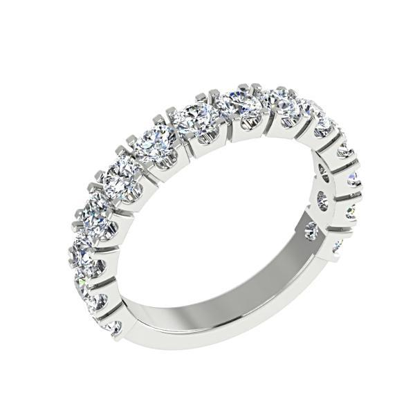 Diamond Stacked Bands Anniversary Rings 18k Gold 1.74 cwt - Thenetjeweler