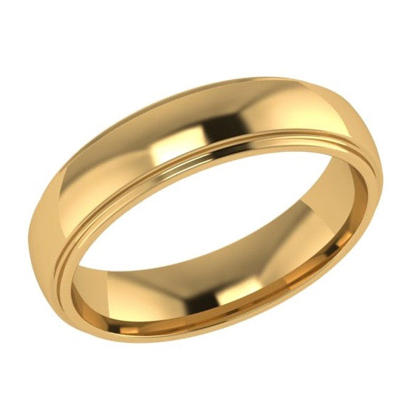 5mm Men's Wedding Band Ring 14K Gold