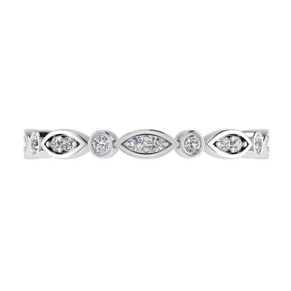 Marquise and Dot Diamond Eternity Ring 18K Gold - Thenetjeweler