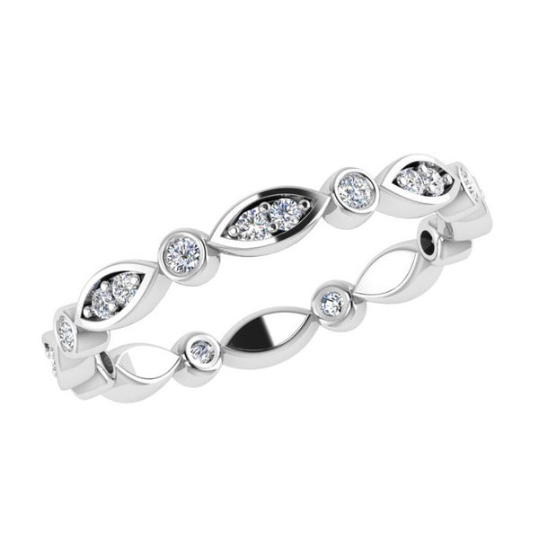 Marquise and Dot Diamond Eternity Ring