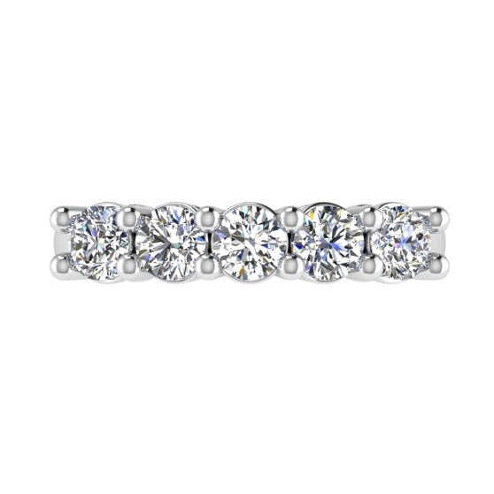 5 Diamond Semi Eternity Ring 18K Gold (1.25 ct. tw)
