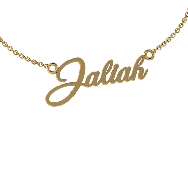 Personalized Name Necklace 'Jaliah' Gold - Thenetjeweler