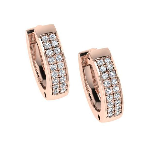 Diamond Huggie Hoop Earrings | Thenetjeweler