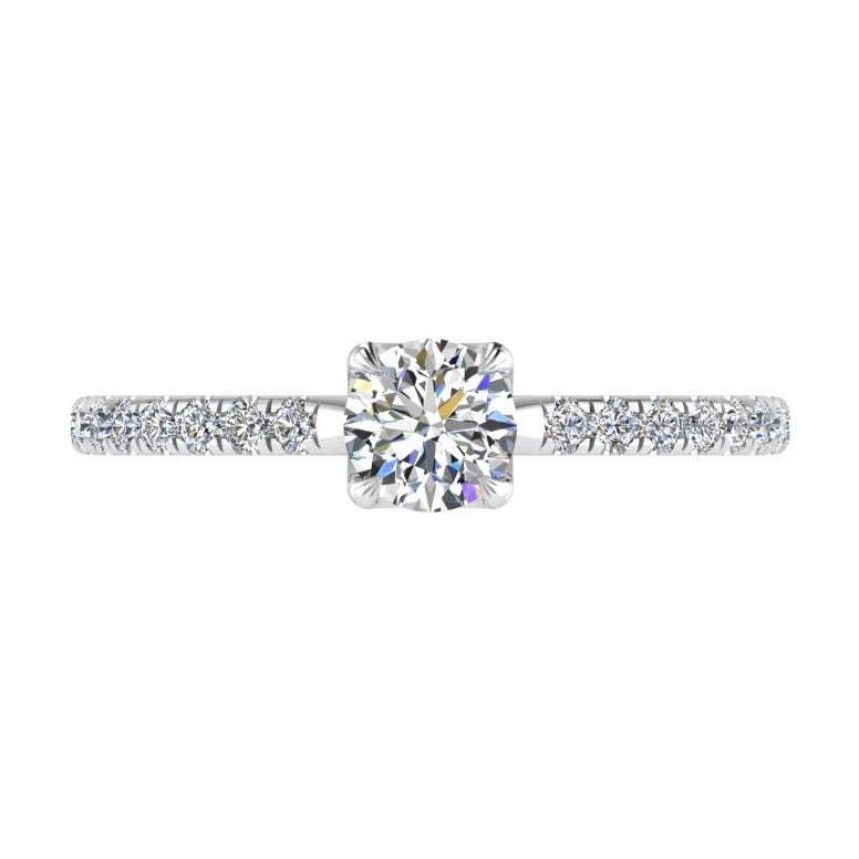 Diamond Crown Engagement Ring Side Stones (0.40 ct. tw) - Thenetjeweler