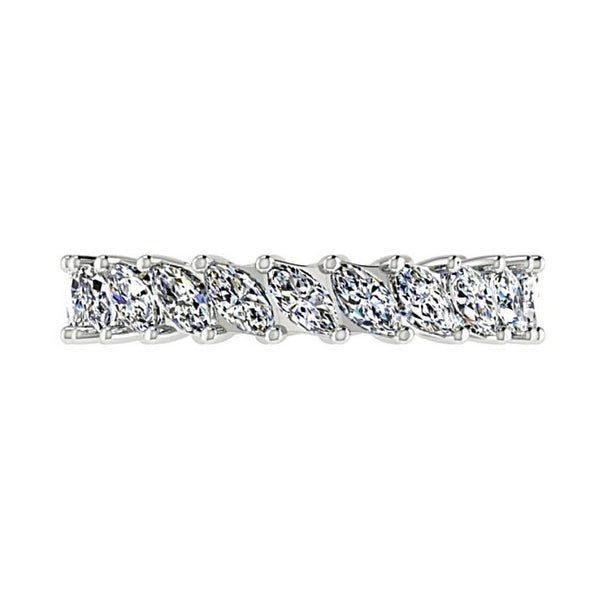 Marquise Cut Diamond Eternity Ring 18K White Gold - Thenetjeweler by Importex