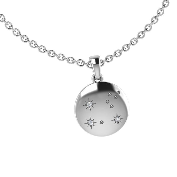 Leo Zodiac Constellation Pendant with Diamonds 10K Gold - Thenetjeweler