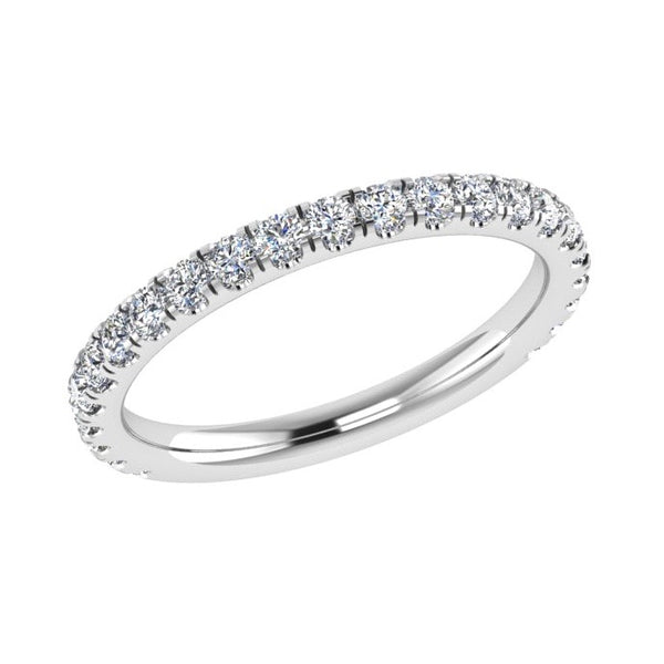 3/4 Diamond Eternity Ring 18K Gold (0.42 ct. tw) - Thenetjeweler