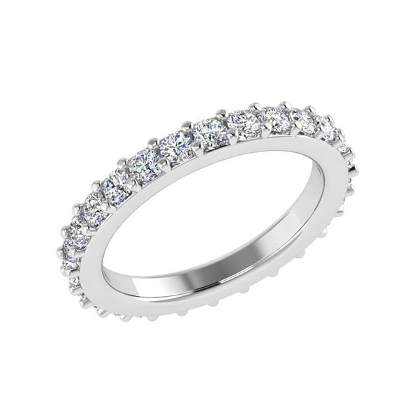 round diamond eternity band ring