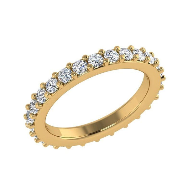 Round Diamond Eternity Band Ring Yellow Gold