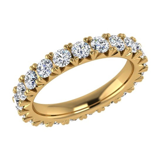 Round Diamond Eternity Ring 18K Gold (2.35 ct. tw.) - Thenetjeweler