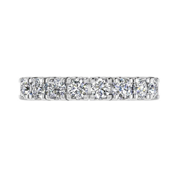 8 Diamond Semi Eternity Ring 18K Gold (0.80 ct.tw) - Thenetjeweler