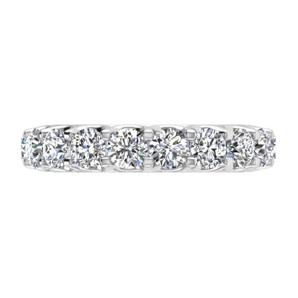 Round Pave Diamond Eternity Ring 18K White Gold (3.69 ct. tw) - Thenetjeweler