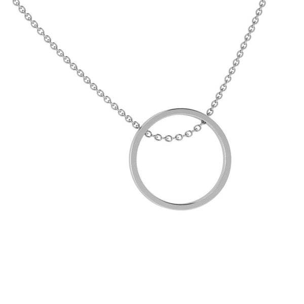 Open Circle Pendant Necklace 14K Gold - Thenetjeweler