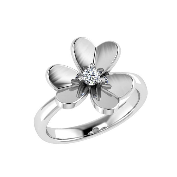 Flower Diamond Ring White Gold - Thenetjeweler by Importex