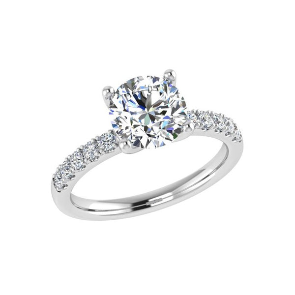 Round Diamond Engagement Ring Side Stones (0.26 ct.tw) - Thenetjeweler