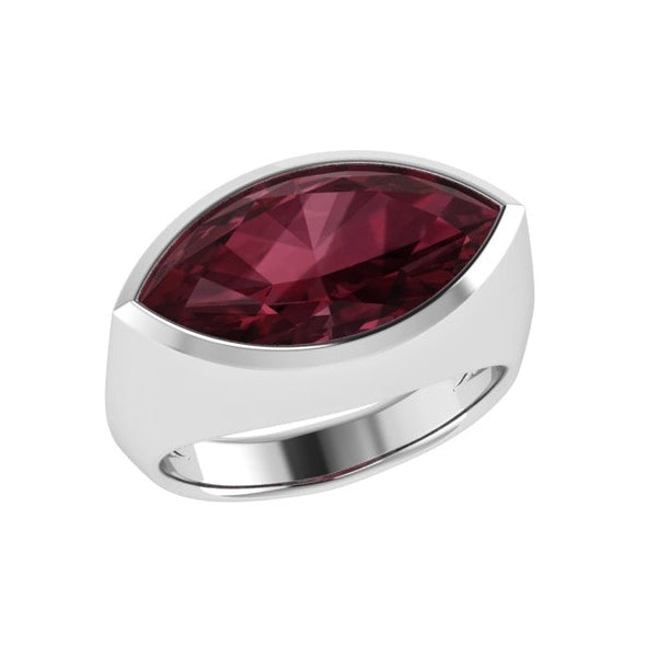 Garnet Gemstone Marquise Ring 14K Gold