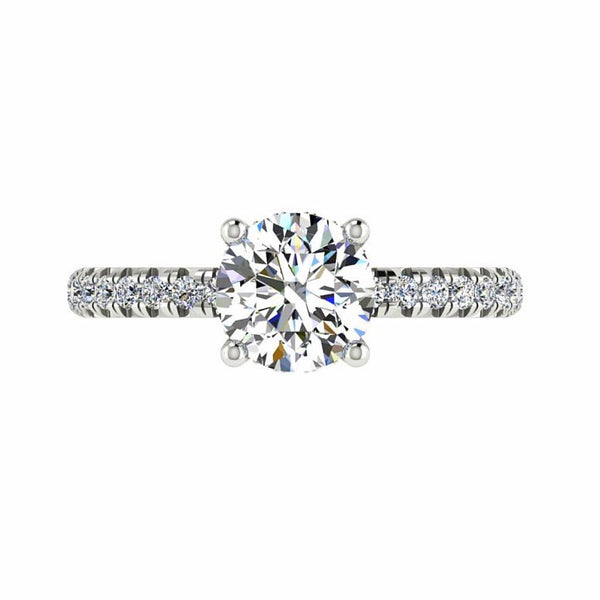 crown engagement ring white gold