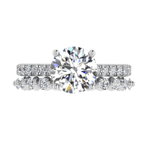 Diamond Engagement Ring and Semi Eternity Set - Thenetjeweler