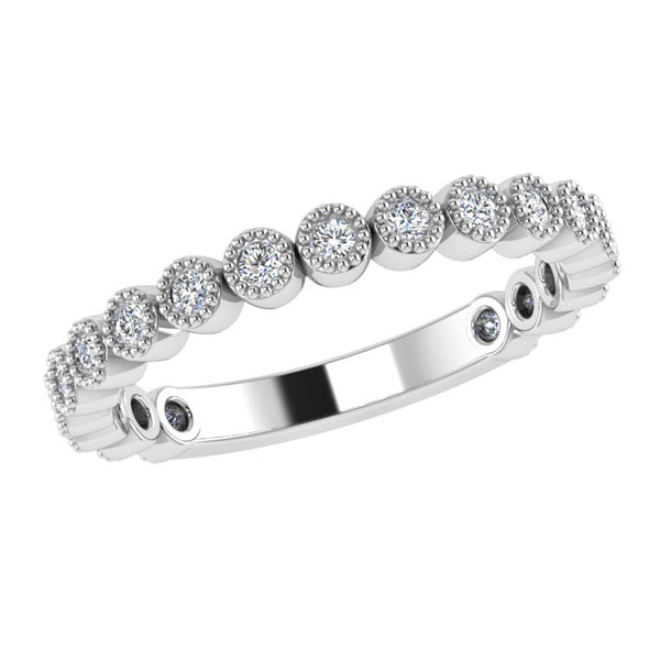 Round Diamond Half Eternity Ring