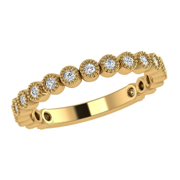 Round Diamond Half Eternity Ring - Thenetjeweler