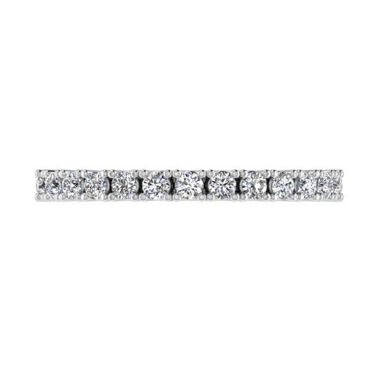 Diamond Semi Eternity Ring 18K Gold (0.33 ct. tw) - Thenetjeweler