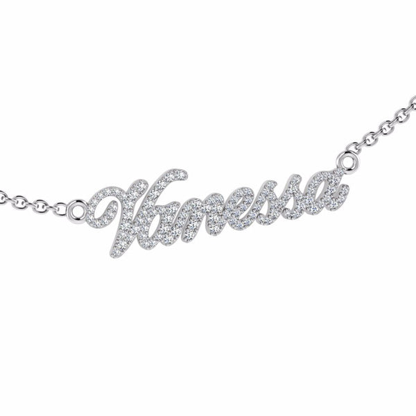 Name Necklace Vanessa - Thenetjeweler