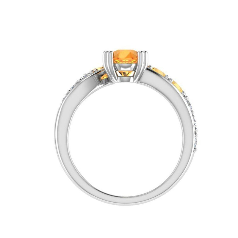 Birthstone Engagement Ring 18K Gold 0.30ct.wt Diamonds - Thenetjeweler