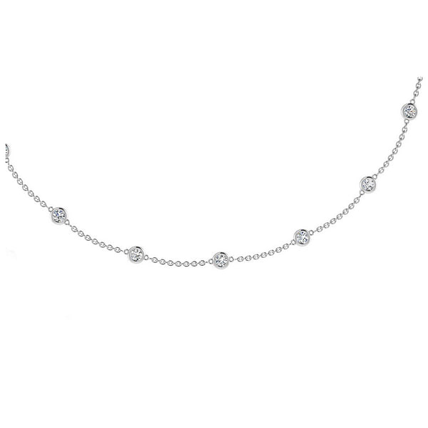 Diamonds By The Yard Necklace 0.70CT - Thenetjeweler