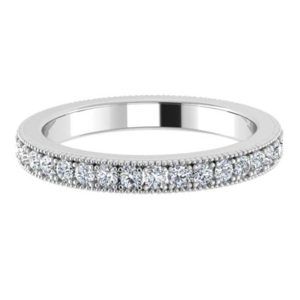 channel set round diamond eternity band