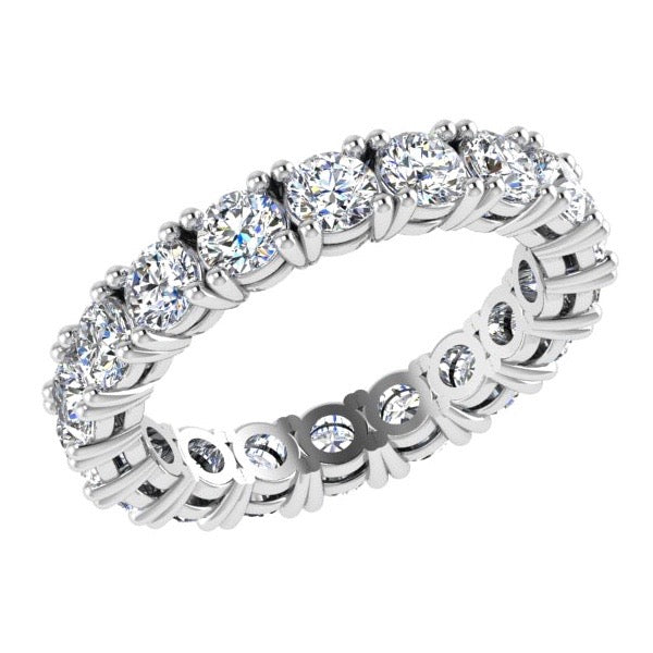 Round Diamond Eternity Ring Band 18K Gold (2.20 ct. tw) - Thenetjeweler