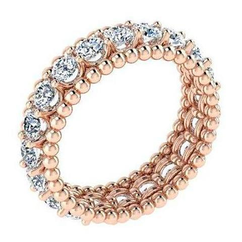 Eternity Band with Spheres 14K Pink Gold - Thenetjeweler by Importex