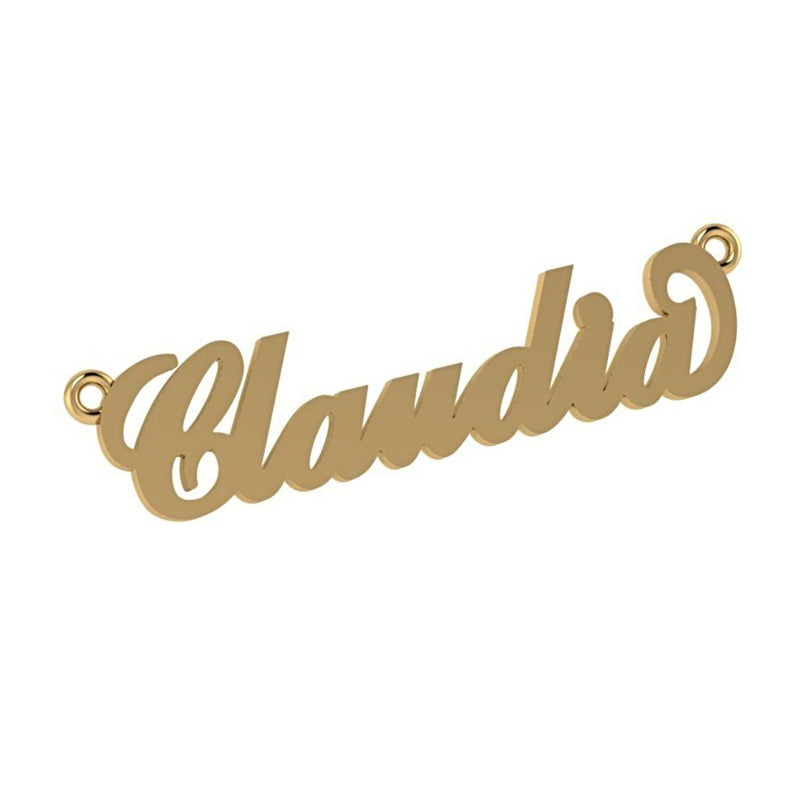Personalized Name Necklace Claudia 14K Yellow Gold - Thenetjeweler