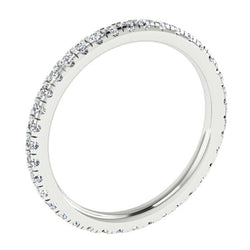 Diamond Eternity Ring Band 18K White Gold 0.57 carat tw - Thenetjeweler by Importex