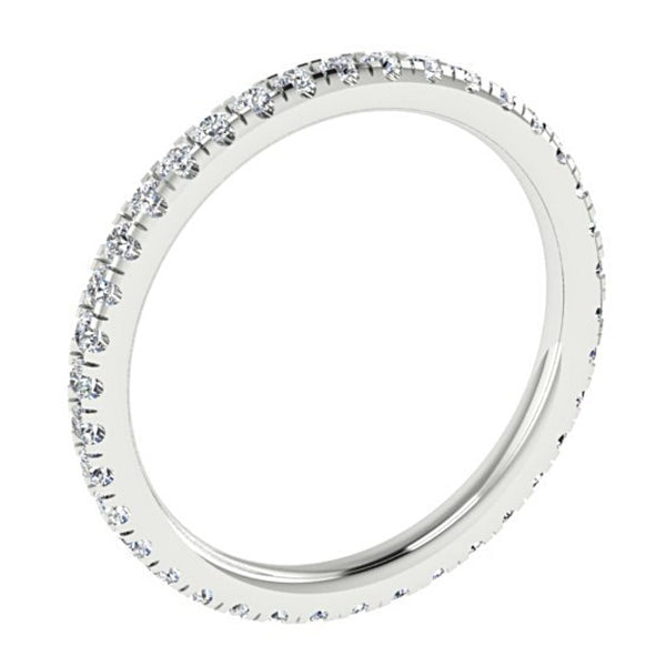 Diamond Eternity Ring Band 18K White Gold 0.57 carat tw - Thenetjeweler