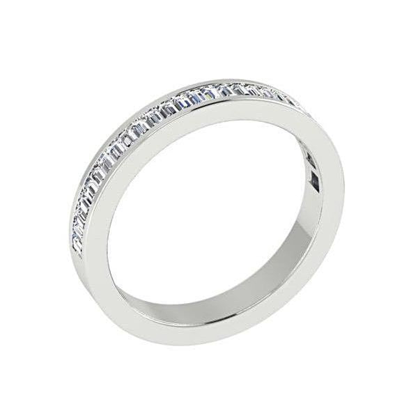 Baguette Diamond Semi Eternity Ring 18K Gold (0.60 ct. tw.) - Thenetjeweler